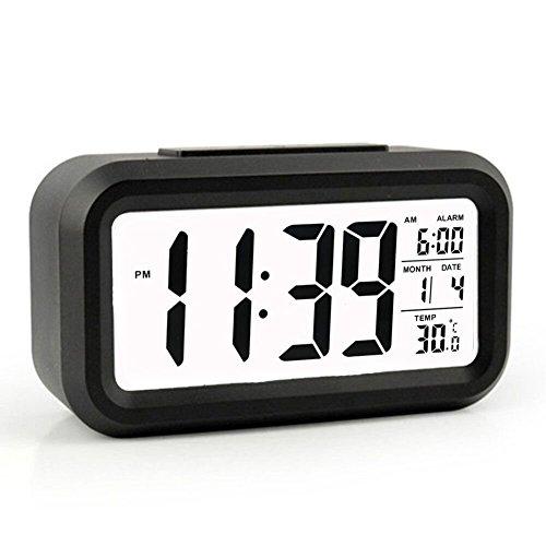 COBOOT Digital Alarm Clock, Smart Night Light, Alarm Clock Smart Backlight Digital Clock with Dimmer for Girls Boys Kids