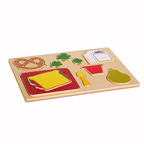 Guidecraft Sorting Food Tray - Lunch Pretend Play Toy G461