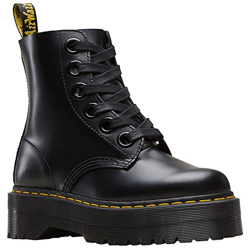 - Dr.Martens Womens Molly Leather Black Boots 8.5 US