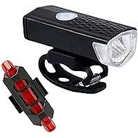 TYESHA Luz de bicicleta com carregamento USB super brilhante, luz de ciclismo à prova d'água, luz frontal de bicicleta…