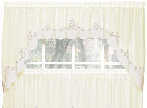 outh Classic Battenburg Applique Sheer Window Swag, 38-Inch, Ecru (Classic Swag)