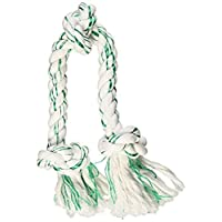 Juguete para perro Booda Fresh N Floss 3 nudos Tug Rope, X-Large, menta verde