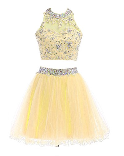 Damen Fanciest Gelb Kleid A Linie fw8d8PTqx