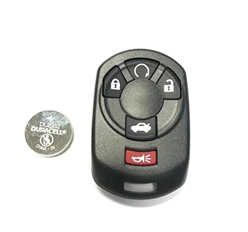 New Replacement Case, Buttons, Duracell Battery for Cadillac CTS Chevrolet Corvette