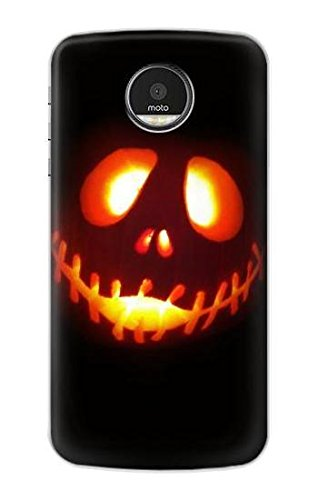 (R2335 Halloween Jack Pumpkin Carving Case Cover For Motorola Moto)
