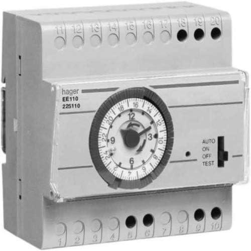 16a horaire 1 conm Hager-Interrupteur cr/épusculaire Ee110 cellule surface int