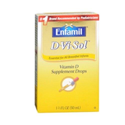 Enfamil D-Vi-Sol Vitamin D Supplement Drops 50 mL(Packs of 5)