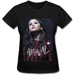 Design Selena Gomez Revival Tour Poster T-shirts For Women Black