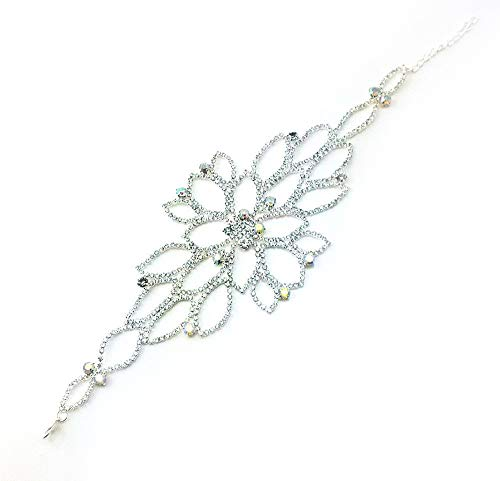 yueton Elegant DIY Rhinestones and Bead Wedding Applique Necklace Bracelet Accessory for Headwear, Epaulet, Arm, Sash ()
