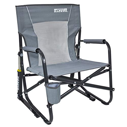 GCI Outdoor FirePit Rocker Portable Folding Low Rocking - Chair Folding Lawn