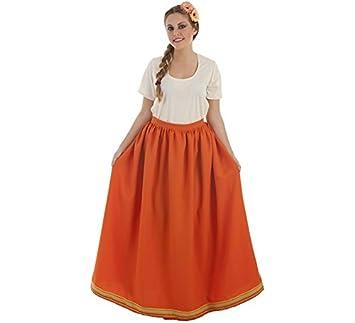 Creaciones Llopis Falda Medieval Naranja para Mujer: Amazon.es ...
