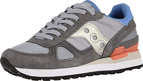 Saucony Originals Women's Shadow Original Sneaker, Dark Grey/Baby Blue, 10 M US (Saucony Originals Women Size 10)