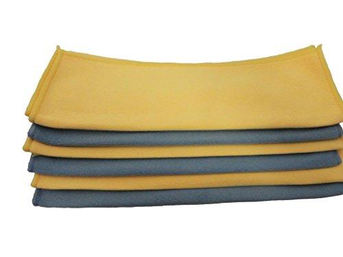 ATLAS Microfiber Detailing Glass Polish Heavy Cloth Towel YELLOW - 12-Pack