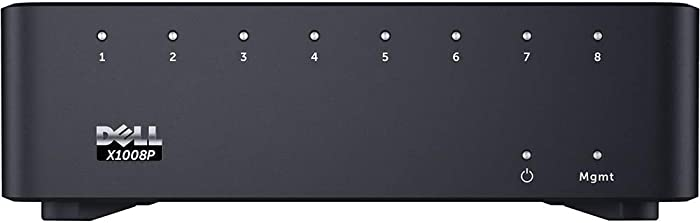 Dell Networking X1008P - Switch - 8 Ports - Managed, Black (463-5908)