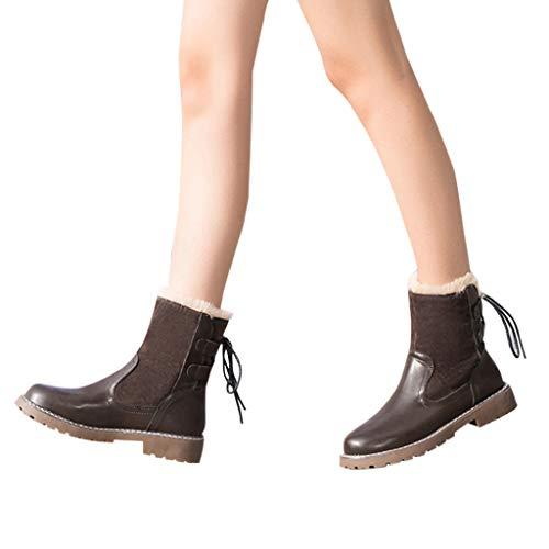 Short Cachi Velvet Flock Neve Stivaletto Invernali Stivali Zolimx In Caldi khaki Stivaletti Donne Ankle Scarpe Donna Boots Outdoor Donna Da Bassi Bootie xW6qR6nB7
