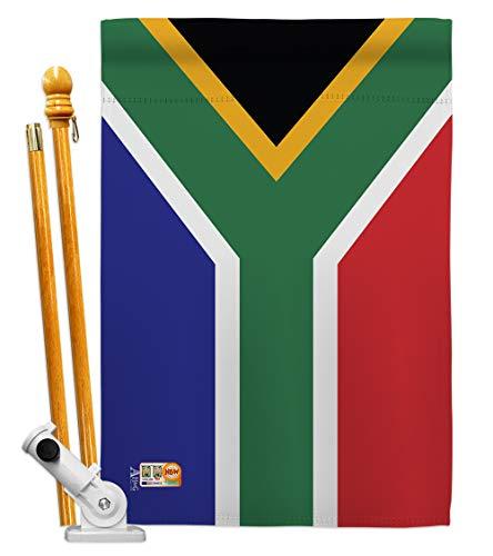 Americana Home & Garden HS140218-BO South Africa World Nationality Decorative Vertical House Flag Set, 28