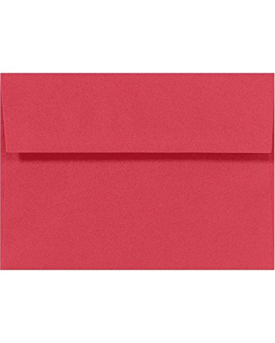 amazon com a10 invitation envelopes 6 x 9 1 2 holiday red 50