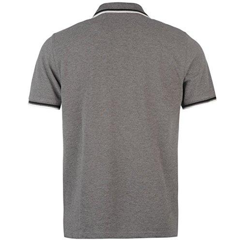 Pierre Cardin Tipped polo camiseta para hombre gris Marl Top camiseta Tee
