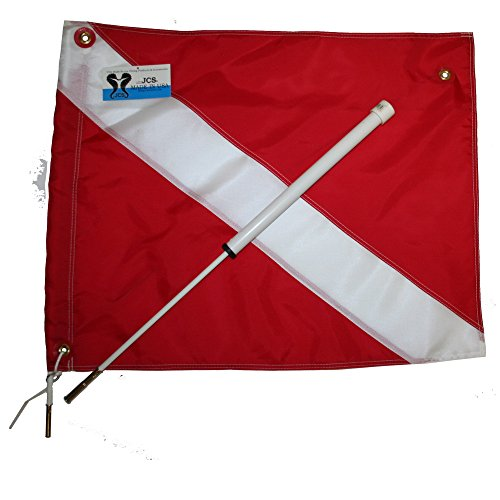 (JCS Boat Dive Flag Mount with 20inch x 24inch Nylon Dive)