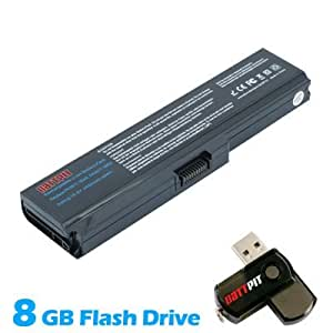 Battpit Bateria de repuesto para portátiles Toshiba Satellite L655D-S5110BN (4400 mah) Con memoria USB de 8GB GRATUITA