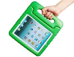 CECT STOCK Caso EVA protectora y soporte con mango para el iPad 2, el nuevo iPad y el iPad 4 (Verde)
