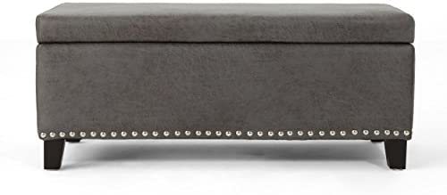 Christopher Knight Home Carl Traditional Microfiber Storage Ottoman