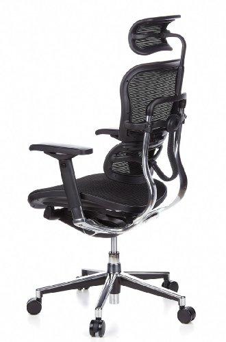 Ergohuman Bürostuhl mit Netz-Stoff, schwarz - 11
