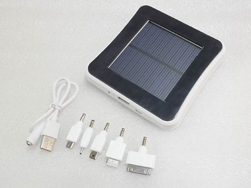 Silver Window Solar Battery Emergency Mobile Cell Phone Charger For iPhone iPod iPad