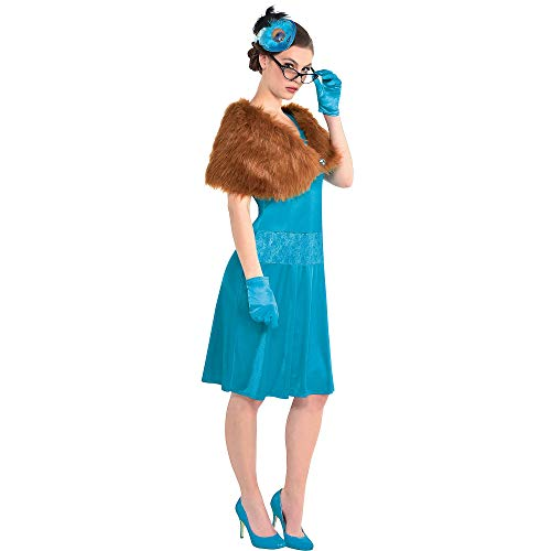Clue Board Game Halloween Costumes (Party City Mrs. Peacock Costume for Adults, Clue, Standard Size, Includes a Dress, Shawl, Feather Fascinator, and)