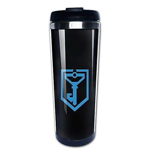 Beaufiy Resistance Ingress Logo Stainless Steel Travel Tumbler Coffee Mug Black