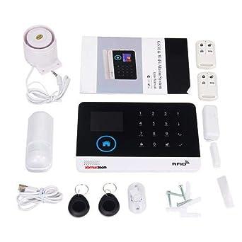 Alarma para casas WiFi GSM compatible camara IP lector RFID Negra ...
