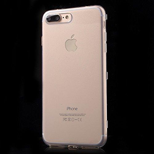 Touchable Flip TPU Phone Tasche Hüllen Schutzhülle Case für iPhone 7 Plus 5.5 inch - Transparent