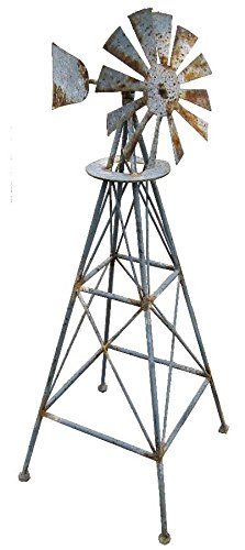 LL Home Rustic Metal Windmill by LL Home