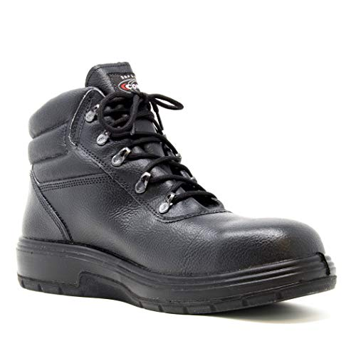 COFRA Leather Work Boots - NEW ASPHALT Treadless Footwear with Composite Safety Toe & Heat Defender Nitrile Rubber Outsole - Size 14 by COFRA (Image #3)
