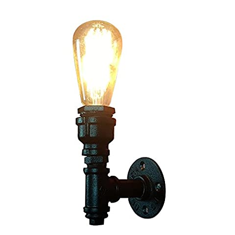 Vintage Wall Sconces Light, MKLOT Retro Industrial Wall Lighting Fixtures Iron Pipe Cage Shade Wrought Iron Water Pipes for Bedroom Cafe Bar Living Room Salon 1-light