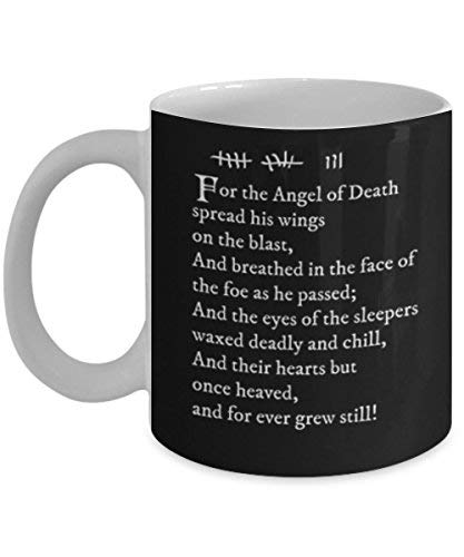 (For the Angel of Death spread his wings Archer Pam's tattoo Coffee Mug Tea Cup Funny Quote Gift Idea for Him or Her Women and Mother Fat)
