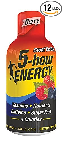 5 Hour Energy Drink Shot, Berry, 12 Count