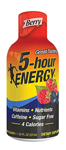 5 Hour Energy Shot, Berry, 1.93 Fl Oz (Pack of 4) by 5 Hour Energy