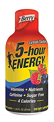 5 Hour Energy Drink Shot, Berry, 12 Count - Energy Gift Basket