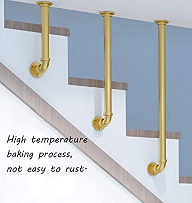 Amazon com: YUDE-Industrial Style L-Type Stair Railing
