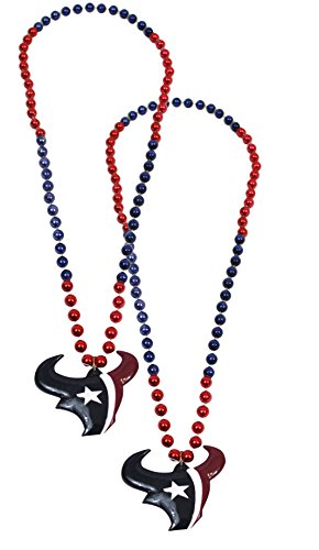 Official National Football League Fan Shop Authentic NFL Team Party Mardi Gras Custom Tailgate Beads 2-pack (Houston (Halloween X Houston)