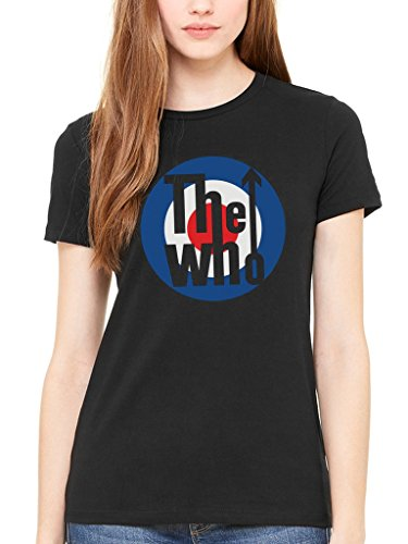al The Who Classic Target Logo Women's T-Shirt 1960s Rock Band Classic (1960's Womens Vest)