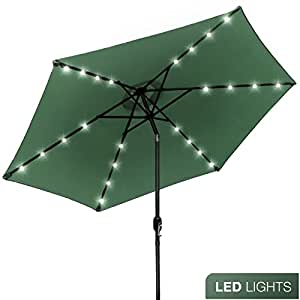 Outdoor Umbrella With Lights Amazon sorbus led outdoor umbrella 10 ft patio umbrella led sorbus led outdoor umbrella 10 ft patio umbrella led solar power with tilt adjustment workwithnaturefo