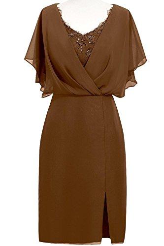 Fanciest - Vestido - trapecio - para mujer marrón