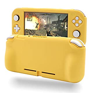 Grip Case for Nintendo Switch Lite, Silicone Case for Nintendo Switch Lite - Yellow