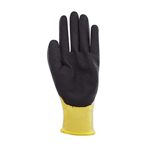 Magid Glove & Safety K8646-7 K-ROC Double-Dip Nitrile Coated Work Gloves Cut Level 4, 9, Yellow , 7 (Pack of 12) by Magid Glove & Safety (Image #2)