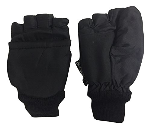 Thinsulate Youth Winter Paradise Convertible Fingerless Gloves with Mitten Cover