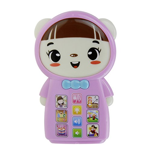 Cute Cartoon Baby My First Smart Touch Cell Phone Learning Toy with Alphabets Numbers Music Story for Kids Toddler Boys Girls Fun Educational Read Game Play Telephone Toys Best Christmas Birthday Gift