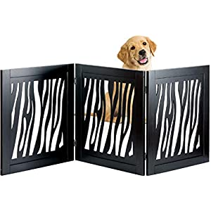 Bundaloo Pet Gate | Expandable & Folding Wood Fence for Dogs & Cats with Three Panels for Blocking Doors, Stairs, Steps… Click on image for further info.
