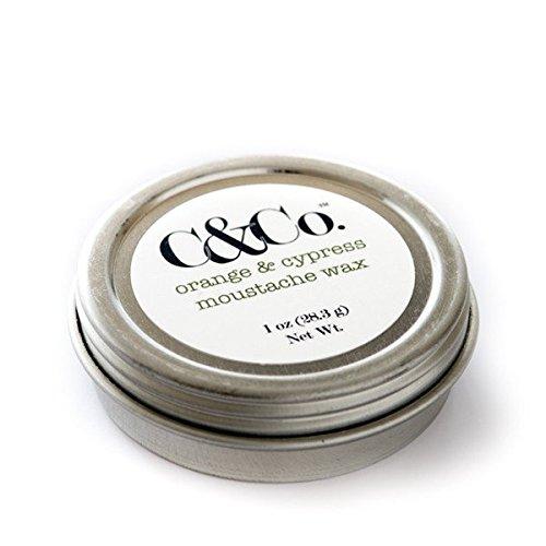 C & Co.®, Orange & Cypress Moustache Wax, Citrus + Woodsy by C & Co
